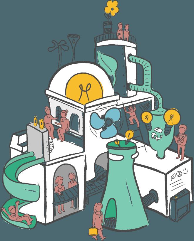 Sociaal ondernemerschap in Utrecht illustratie